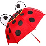 Parapluie pour enfant fille ou garçon enveloppant et rigolo, drôle et mignon, se balader sous la pluie c'est aussi un jeu d'enfant, choisir:61/1960 coccinelle