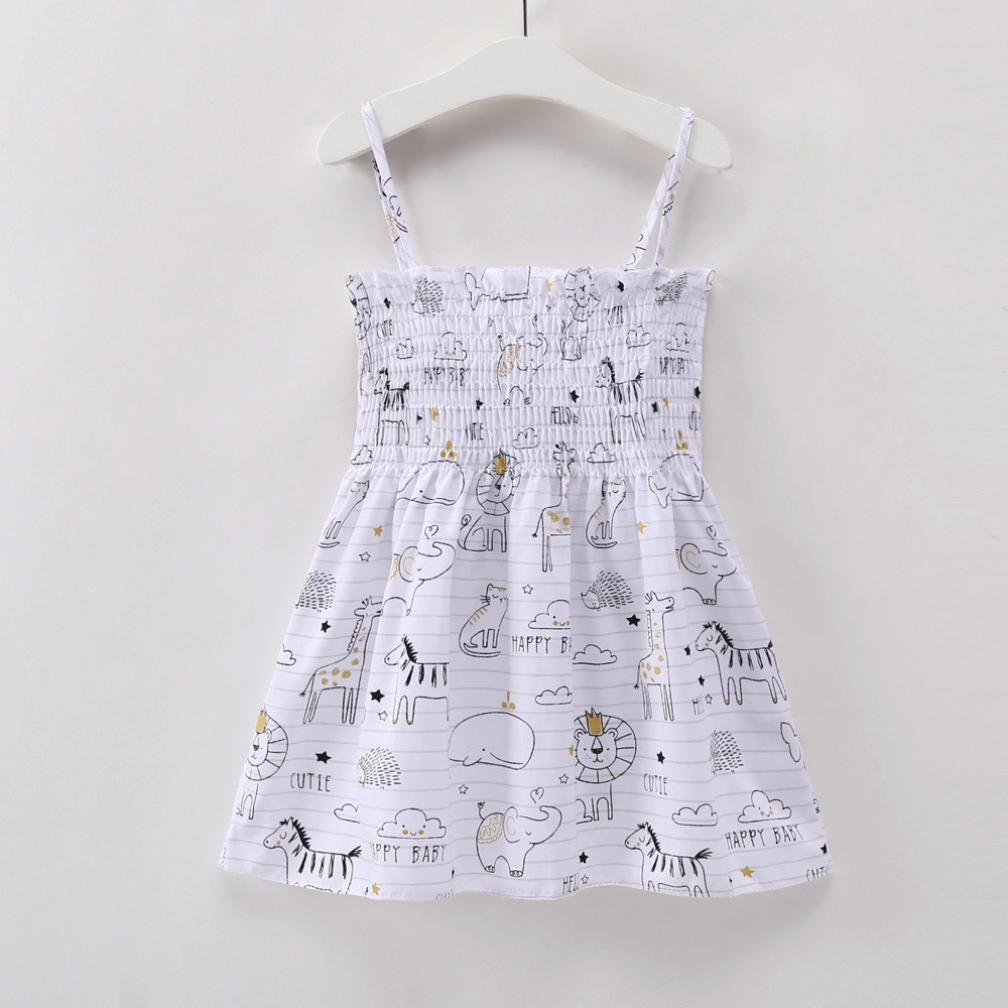 Lavany Little Girls Dresses Flower Print Off Shoulder Cute Baby Girl Dress Sundress