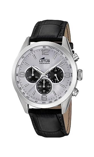 Correa con Hombre en de 181556 Reloj Cuarzo Watches Lotus Cuero Cronógrafo para clKF3Tu1J