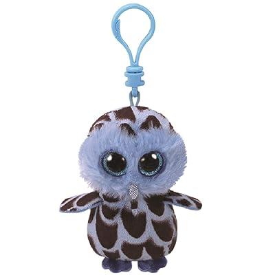 Ty Beanie Boos YAGO - Blue Owl Clip Key Chain Plush: Ty: Toys & Games