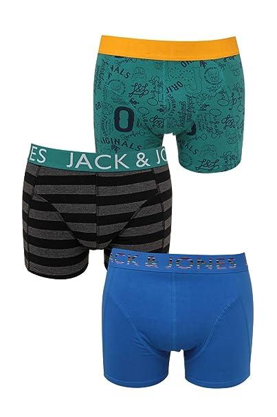 Jack y Jones de ropa interior para hombre calzoncillos FALYNN 3-PACK REGULAR bebida,