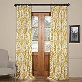 PRTW-D46A-120 Lacuna Printed Cotton Twill Curtain,Sun,50 X 120 For Sale