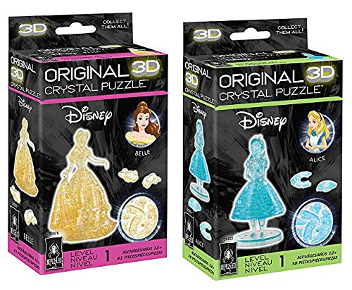 Bepuzzled Original Alice and Belle 3D Crystal Puzzle Bundle - Set of Two Puzzles - Belle Crystal