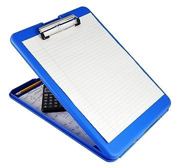 Elegant Saunders Blue SlimMate Plastic Storage Clipboard U2013 Light Weight,  Polypropylene Clipboard For Students, Teachers