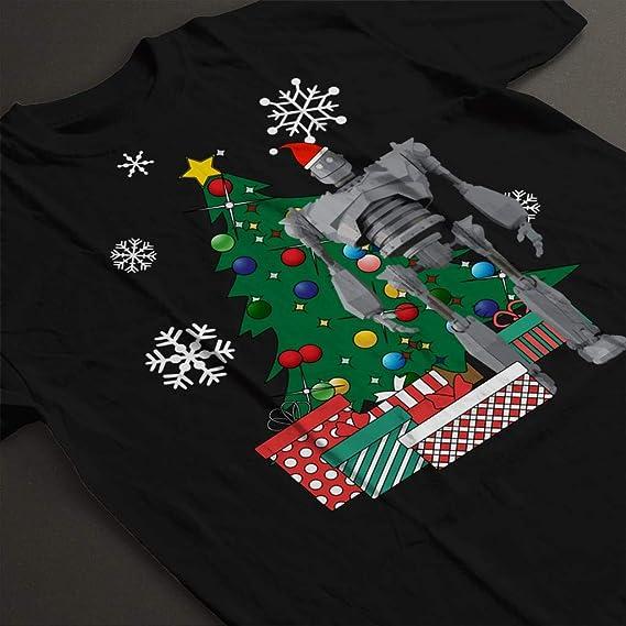 Iron Giant Around The Christmas Tree Kid/'s T-Shirt