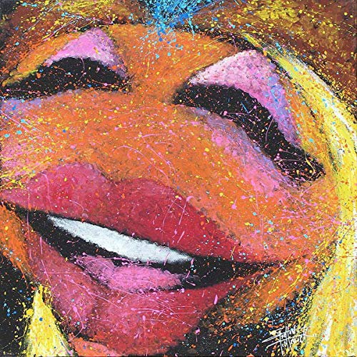 FidgetGear Art Quality Canvas Print Anime The Muppets Janice on Guitar Home Decor 16