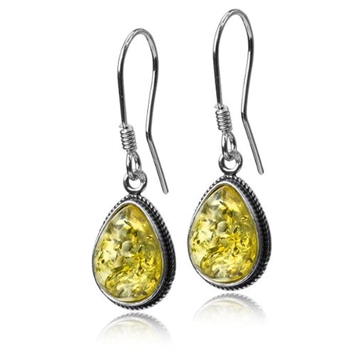 27989bd4d Amazon.com: Sterling Silver Light Amber Classic Teardrop Earrings: Jewelry