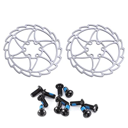 Amazon Com Vbestlife Bicycle Disc Brake Rotor With 6 Bolts 2pcs