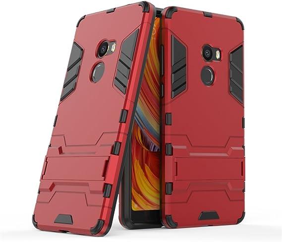 GOGME Funda para Xiaomi Mi Mix 2, Soporte Plegable Case, Rojo ...