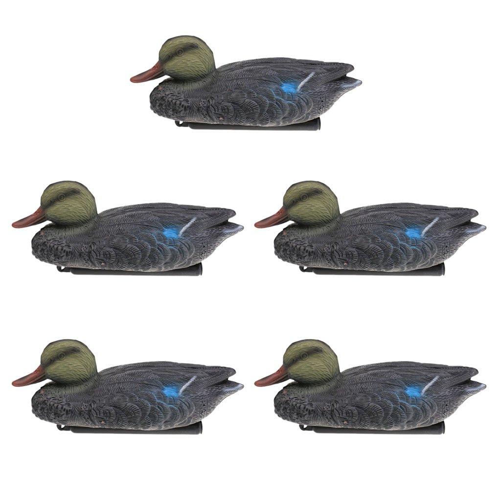 Baoblaze 5 Unidades de Señuelos de Pato Regalo para Niño Duradero Flotante