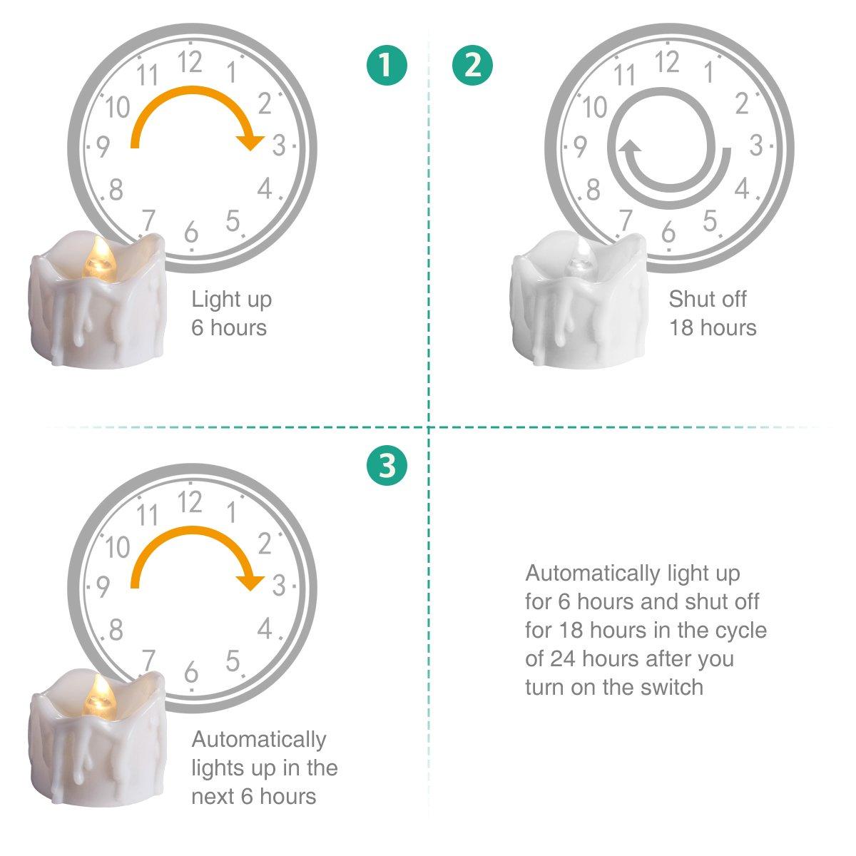 F/ête Bougies /électriques avec T/él/écommande et Minuterie Oria Bougies /à LED 2 Modes Pour No/ël Bougie /électrique Sans Flamme D/écoration de Mariage RGB//Blanc Chaud//Blanc - Paquet de 3