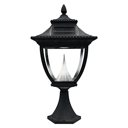 Outdoor Pier Lights Gama sonic pagoda solar outdoor pier light gs 104p black finish gama sonic pagoda solar outdoor pier light gs 104p black finish workwithnaturefo