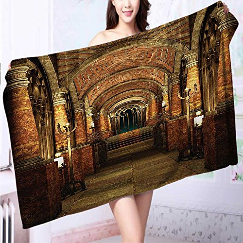 Auraise Home Made of 100% Premium Cotton Altar Checkered Floor in Scary Hazy Winter Forest Holy Spiritual Church Lightweight, High Absorbency L39.4 x W19.7 INCH by Auraise Home