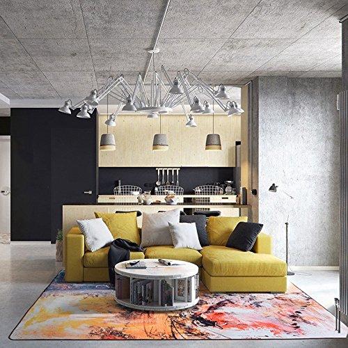 じゅうたん 工業化時代カーペットリビングルームベッドルームベッドサイドカーペットのコーヒーテーブルブランケットアートシンプルでモダンな長方形 QYSZYG (サイズ さいず : 0.8*1.5m) B07RFV1N36  0.8*1.5m