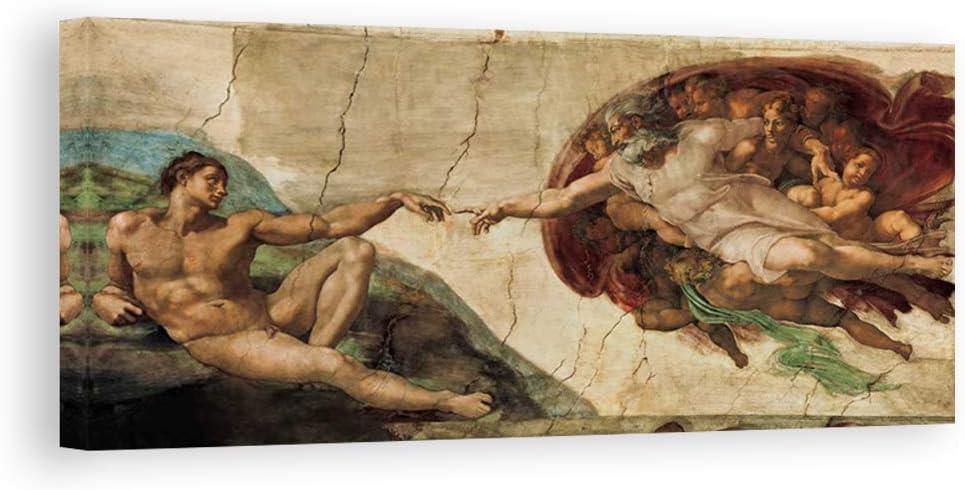 DìMò ART impresión Sobre Lienzo Michelangelo buonarroti La creación de adán: Amazon.es: Hogar