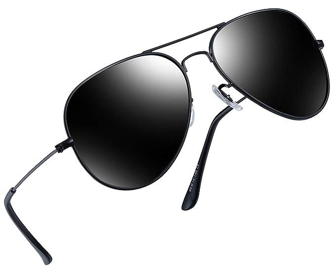 cb2846fb51f42 Classic Polarized Sunglasses UV400 Eyewear Men Women Retro Pilot Sun Glasses  (Black)