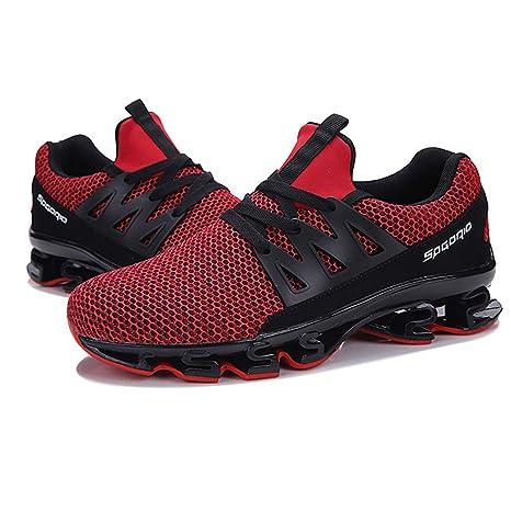 Bestow Gran tamaño de los Hombres Corbata de Moda los Zapatos Deportivos Casuales de Malla Transpirable Corriendo los Zapatos de los Hombres de Malla: ...