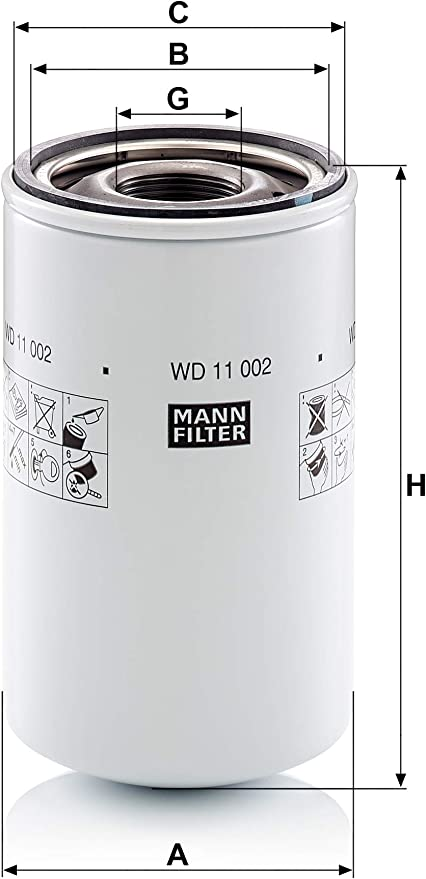Original Mann Filter Hydraulikfilter Wd 11 002 Für Industrie Land Und Baumaschinen Auto