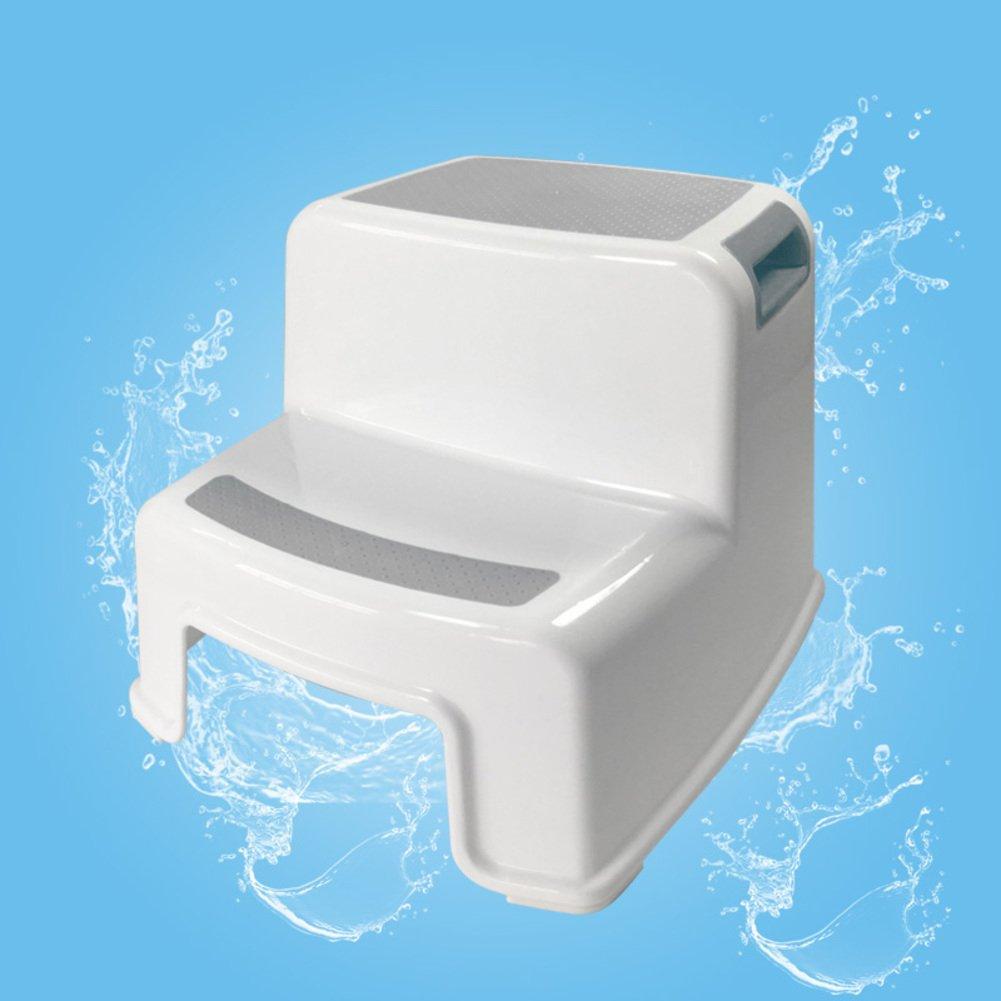 SangreAzul Plastic Multifunctional Step Stool,Modern Simple Multicolor Minimalist Home Living Room Bathroom Durable Stool-Gray