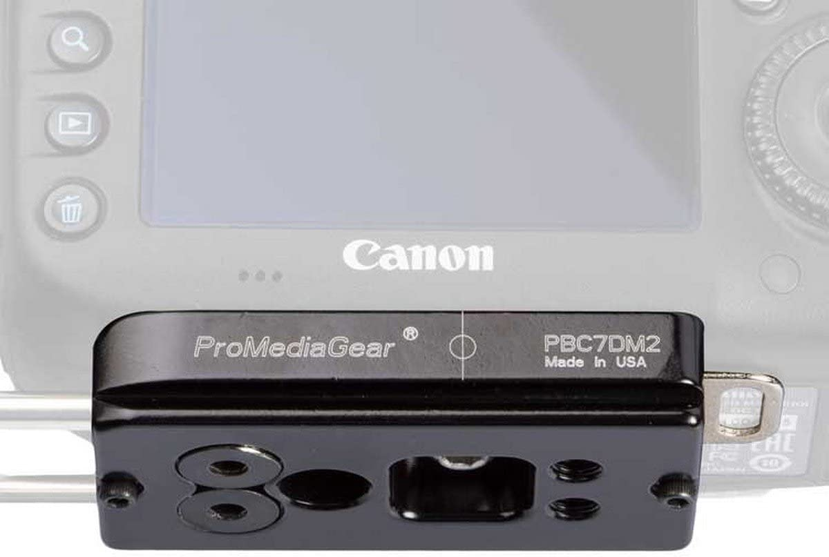 ProMediaGear PBC7Dm2 Bracket Plate for Canon 7D Mark II Body