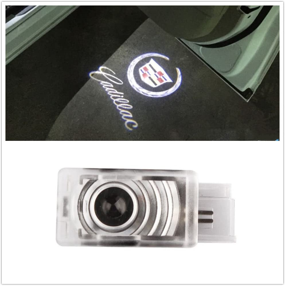 SYAUAWTO 2 Pcs LED Car Logo Lights Ghost Light Door Light Projector Accessories Welcome Emblem Lamp for Cadillac SRX 2011-2017 ATS 2014-2017 XTS 2009 2010 2011 2012 2014 2015 2016 2013Except 2 Pack