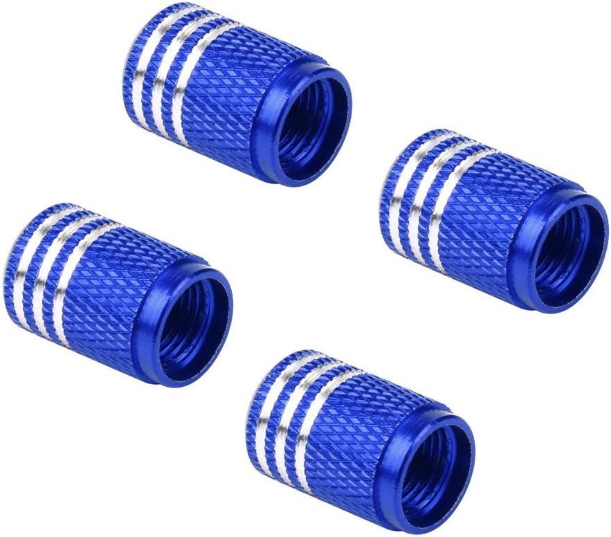 EVPRO Valve Stem Caps 4 Pack Blue Car Tire Decorative Fit for BMW Accessories