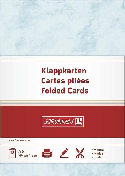 Baier Schneider Brief Falt Visitenkarte Unbedruckt