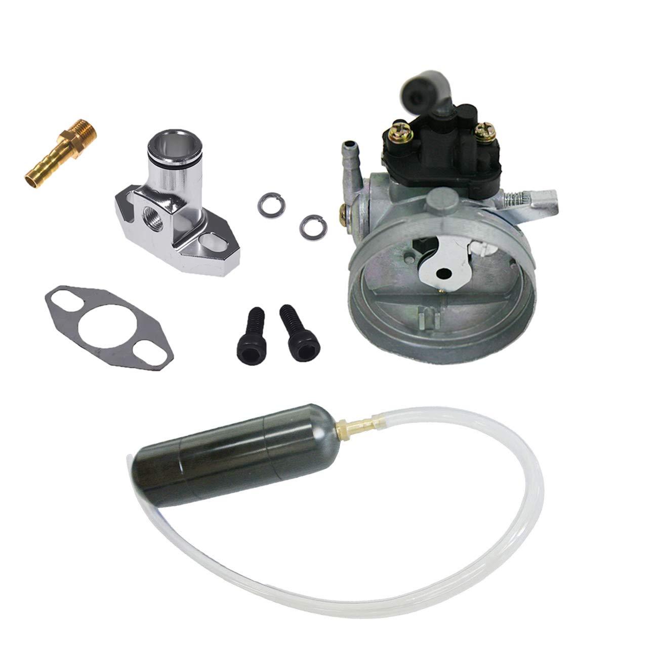 NORTHTIGER Carburetor&Black Gas Power Boost Bottle for 66cc 80cc Engine Motorized Bicycle