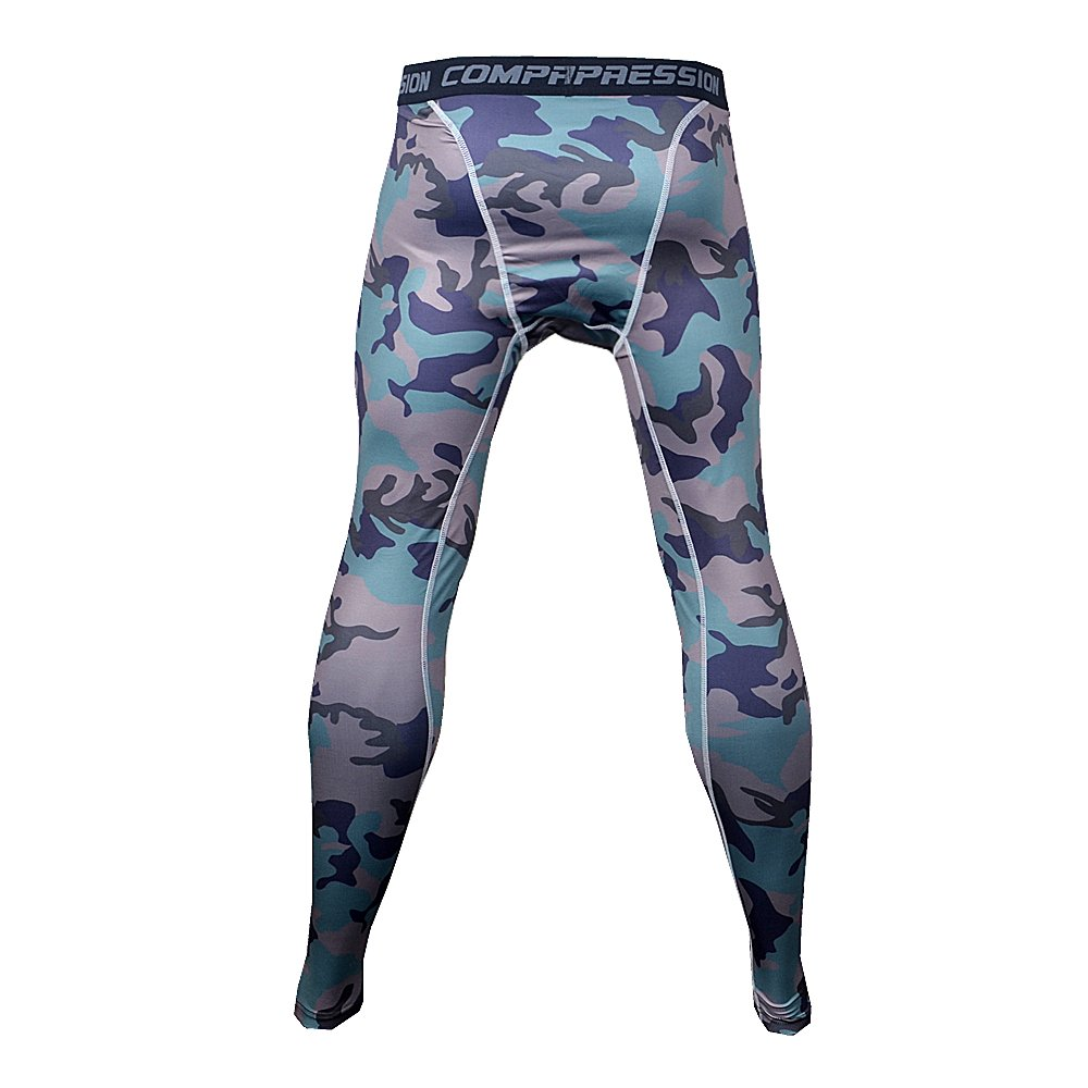 Bifrost Mens Camouflage Sports Running Basketball Compression Tight Leggings Pants