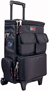 Gator Cases Lightweight Rolling Backpack Case with Pull Handle; Fits 25-Note Micro Controllers and Laptop (GK-LT25W)