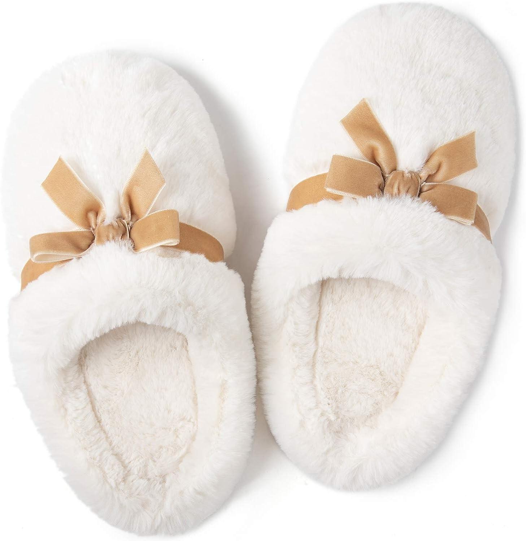 ULTRAIDEAS Women's Plush Fur Slippers