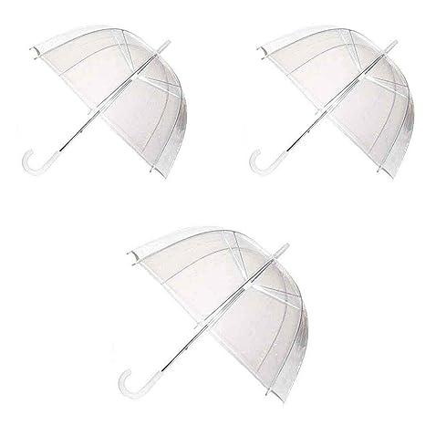 design de qualité bd10f 9470a Paquet de 3 dômes Voir à Travers Un Parapluie Transparent ...
