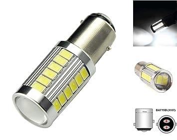 LED BAY15D, 1157, P21/5W, 7277 12-24V CANBUS, 1300 lm: Amazon.es: Coche y moto
