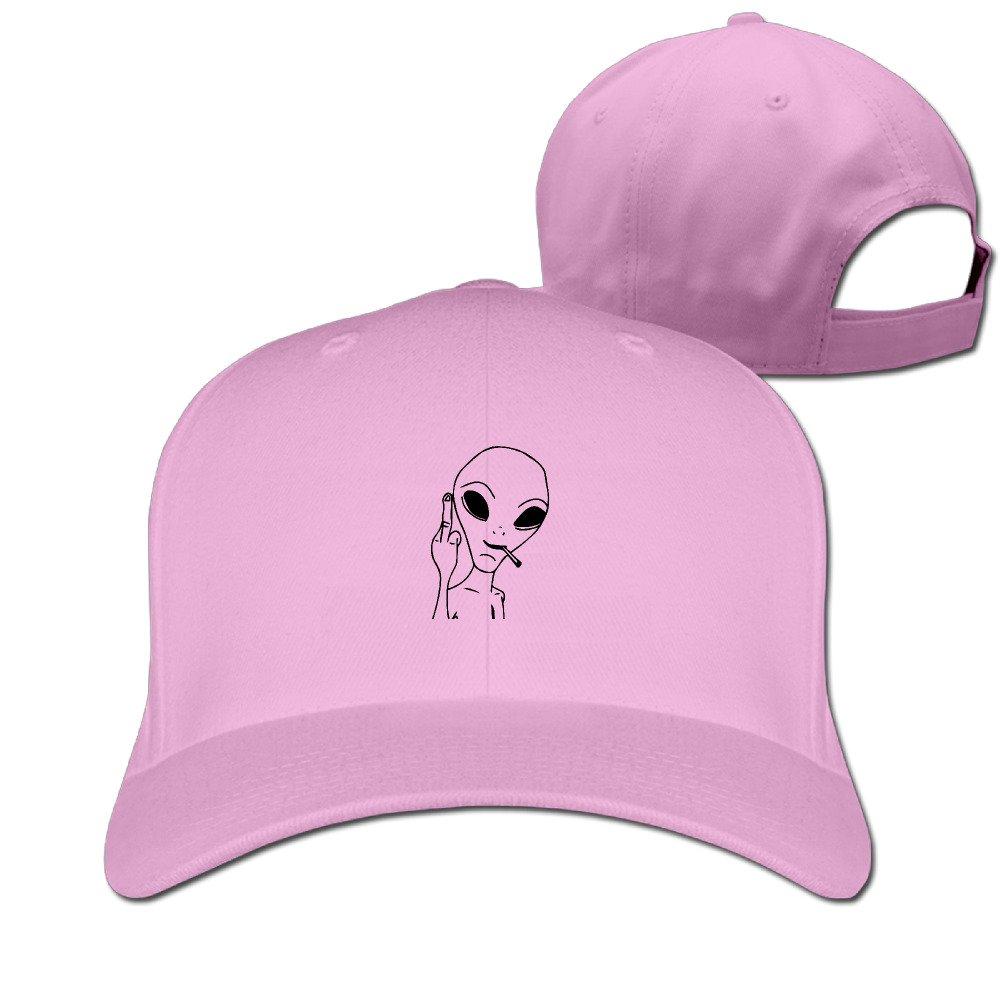 HDRAY Unisex Adult Alien Fuck Plain Baseball Cap Adjustable Snapback Hat White
