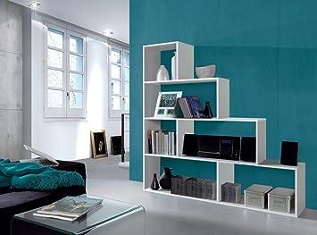 Elegant Camila Living Room Furniture 4 Tier 6 Pod Bookcase Display Shelf Unit White Part 23