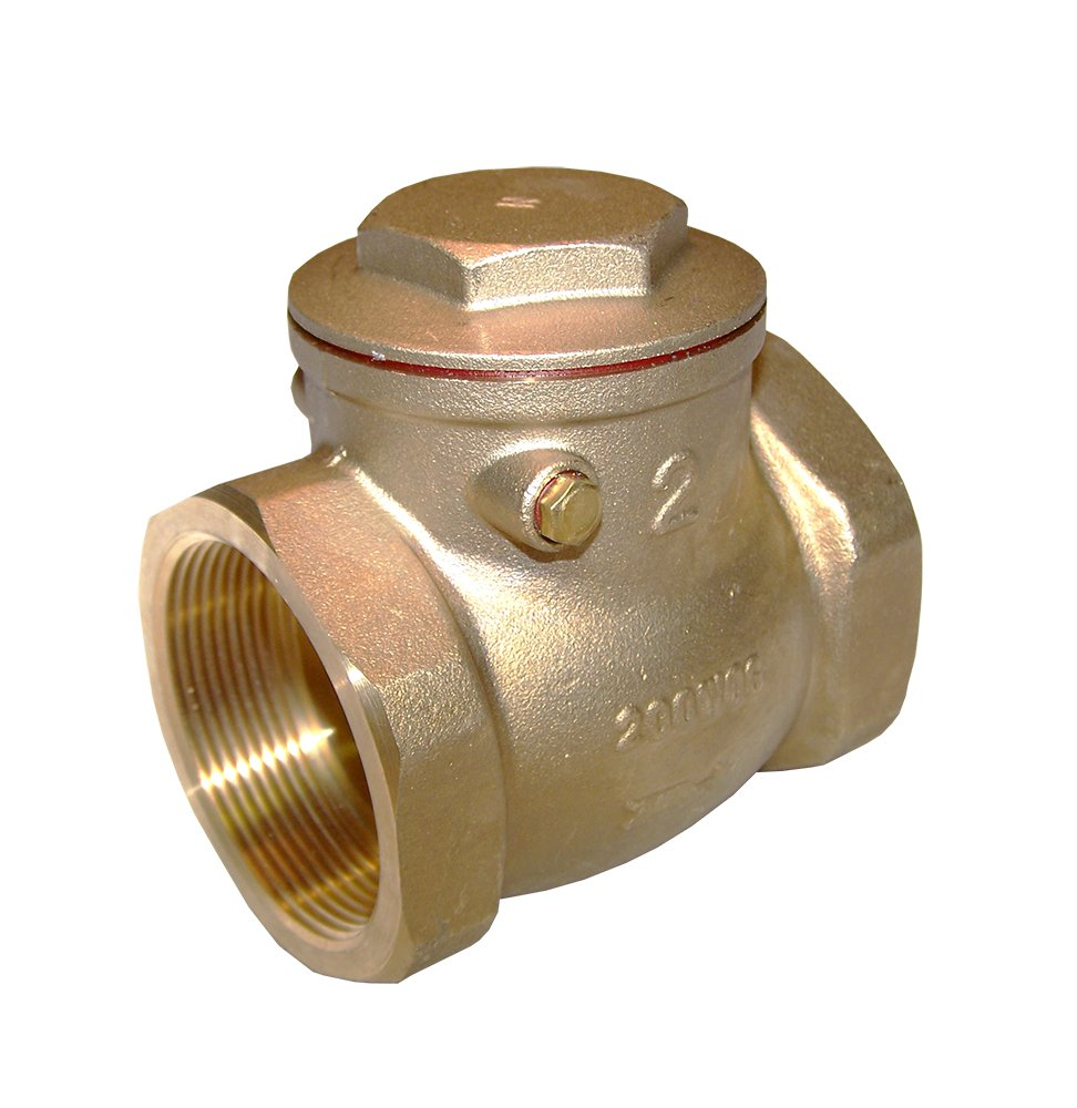 American Valve G31 1 1/4'' Lead-Free Brass Swing Check Valve with Fip Threaded Ends, 1-1/4''