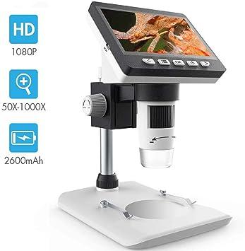 Amazon.com: Microscopio digital LCD, SKYBASIC 4,3 pulgadas ...