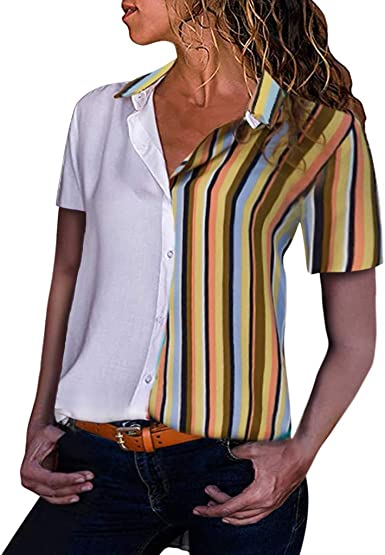 Blusas para Mujer Elegantes,Blusas con Botón Mujer Casual de ...