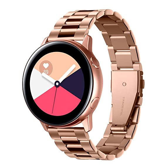 Spigen Modern Fit Designed for Samsung Galaxy Watch Active (2019) / Galaxy Watch 42mm (2018) / Gear S2 Classic (2015), 20mm Smartwatch Band - Rose ...
