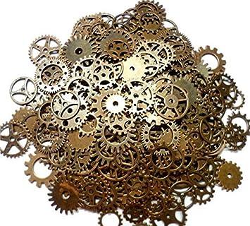 Outflower 100g engranajes de reloj de estilo retro/steampunk/cyberpunk bisutería DIY manualidades(75-80pcs): Amazon.es: Hogar
