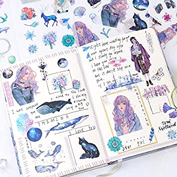 Kawaii Stationery Stickers Cute Whale Stickers Lovely Paper Stickers For Kids Diy Diary Scrapbooking Photo Ablums 6sheets Pack Amazon Co Uk Car Motorbike