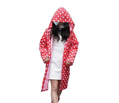 Mujer Impermeable lluvia Abrigos,Feicuan Adultos Chubasquero Rainwear Dot Poncho Waterproof Outdoor ...