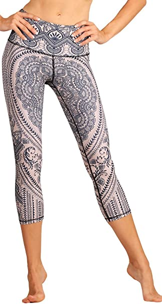 Yoga Democracy Eco-Friendly Henna My Heart Leggings (Crops)