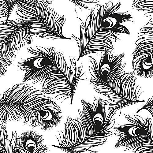 (CosmoLiving by Cosmopolitan CL4000 Feathers Removable Peel and Stick Wallpaper, 20.5