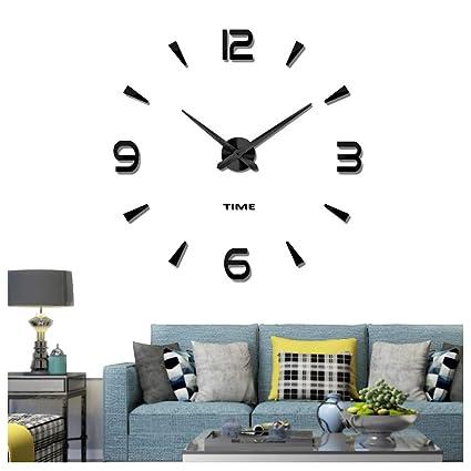 Bon Vangold Decorative DIY Wall Clock, 2 Year Warranty Frameless Wall Clock  With 3D Mirror