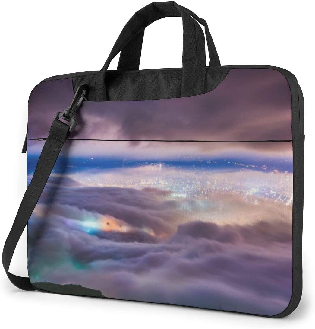Wonderful Fog Landscape Computer Sleeve Cover with Handle Sony Business Briefcase Protective Bag for Ultrabook MacBook Asus Samsung Laptop Shoulder Bag Carrying Laptop Case 13 Inch Notebook