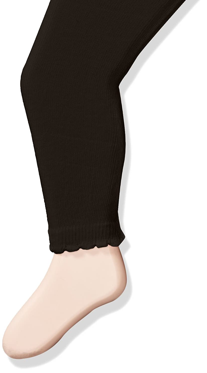 Jefferies Socks Girls Baby Cotton Footless Tights with Scalloped Edge