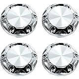 X AUTOHAUX Universal Silver Tone 68mm Car Wheel Center Hub Caps Cover w//Black Sticker 4pcs