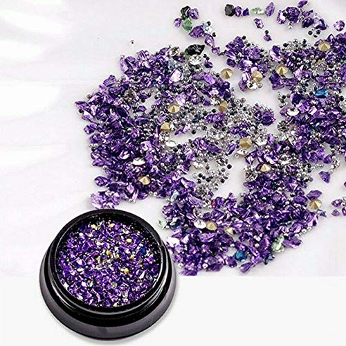 Mixed Glitter Mini Micro Bead 3D DIY Manicure Nail Art Nail Jewelry (Color - Purple) ()