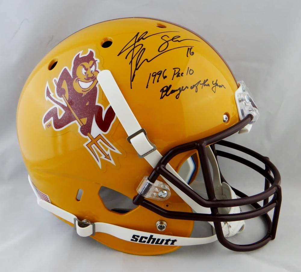 Jake Plummer Autographed Arizona State F/S Schutt Helmet w/Insc Beckett Auth Black